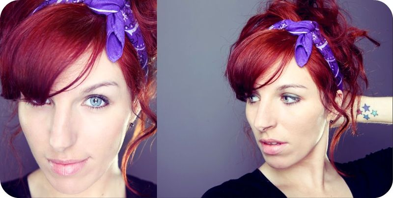 Diptych red hair